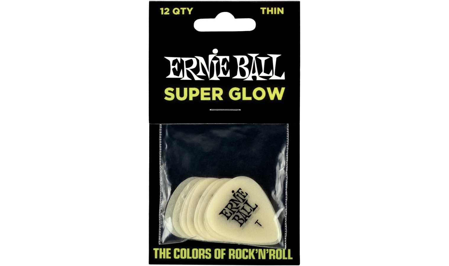 Ernie Ball EB9224 Pick Glow in the Dark Thin 12er