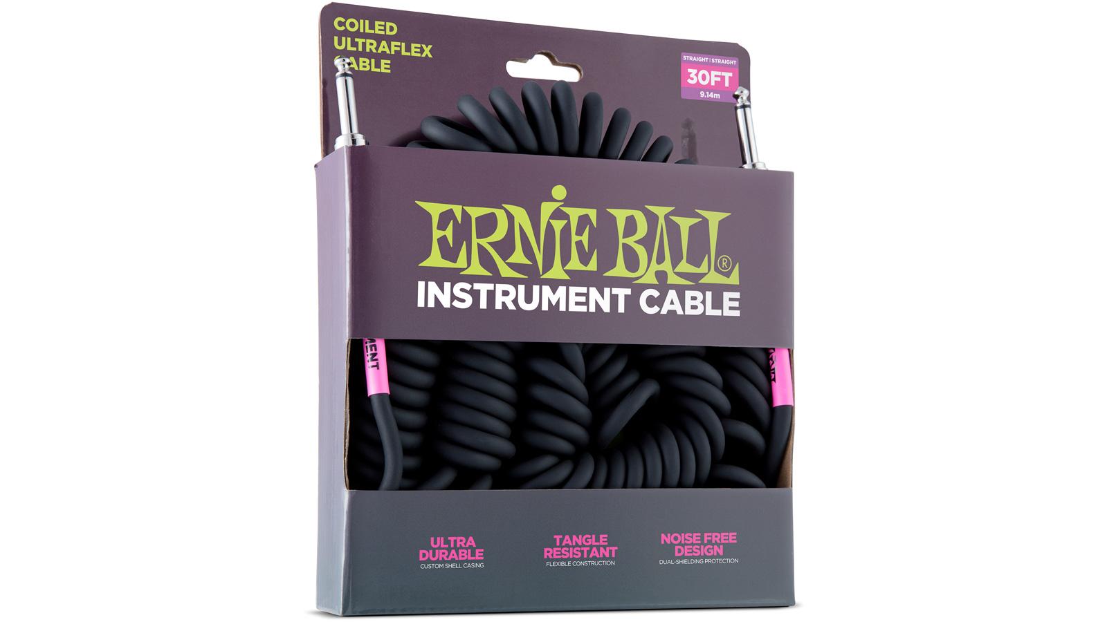 Ernie Ball EB6044 Spiralkabel schwarz 9,14 m