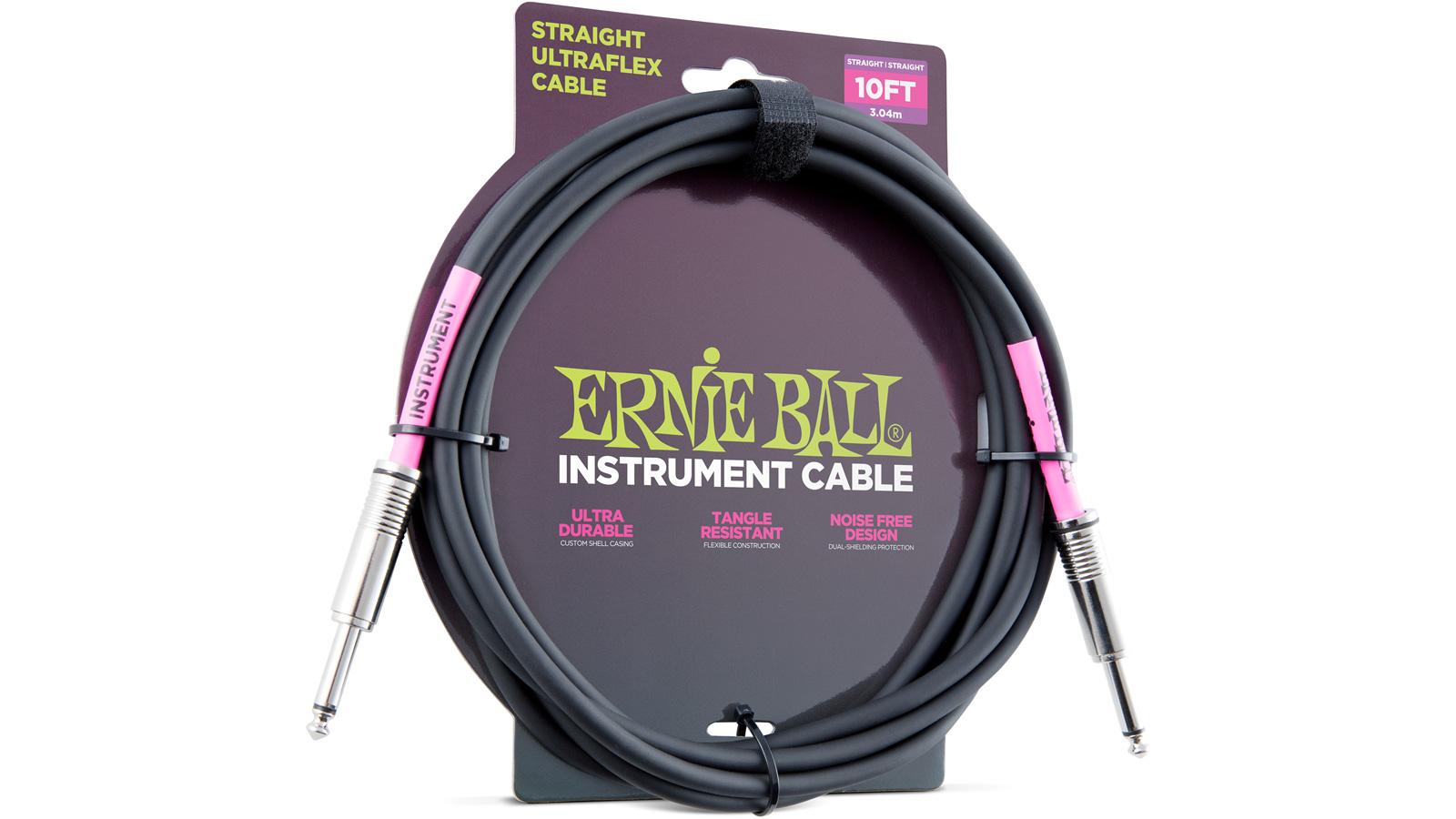 Ernie Ball EB6048 Instrumentenkabel schwarz 3,04 m