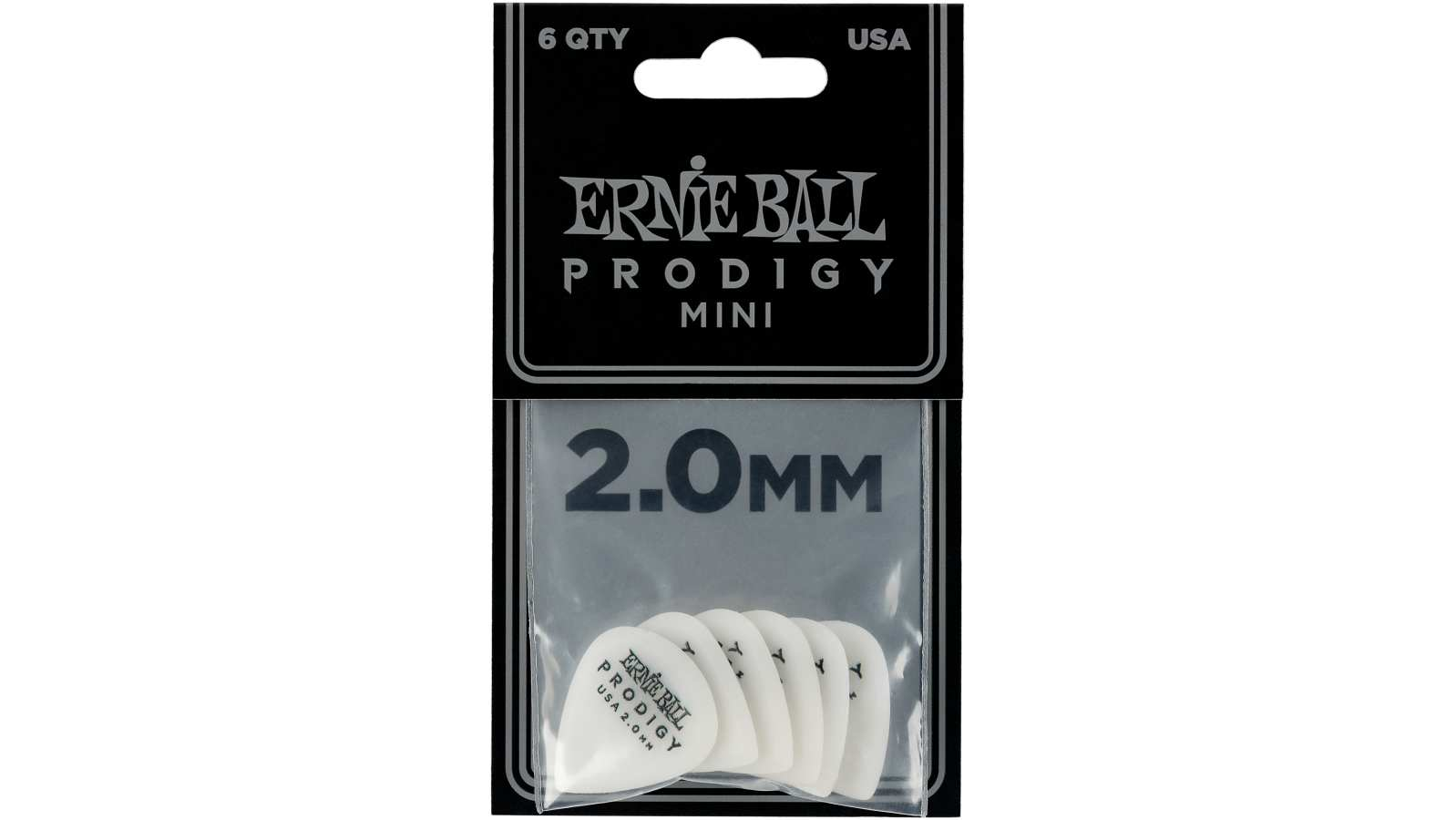Ernie Ball EB9203 Picks Prodigy Mini 6er Pack weiß