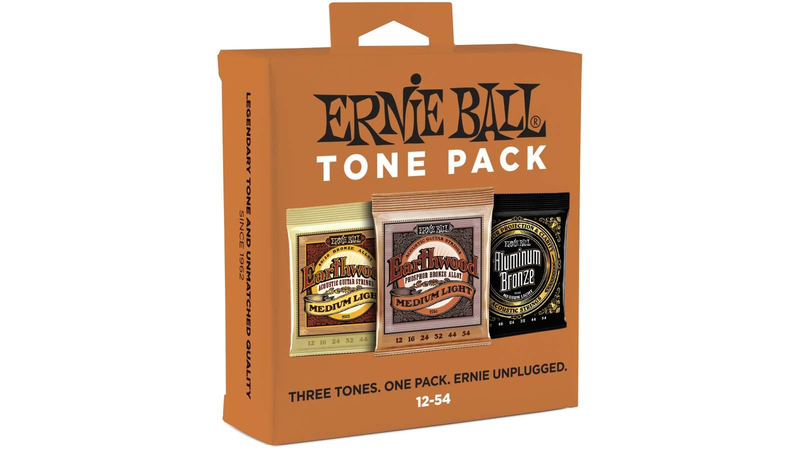 Ernie Ball EB3313 Acoustic Tone Pack Regular 012-054 Saiten 3-Pack