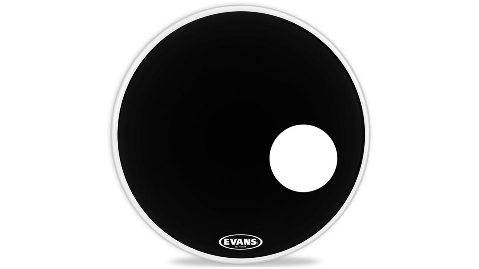 """Evans EQ3 Black Bass Drum Reso Fell 20"""""""