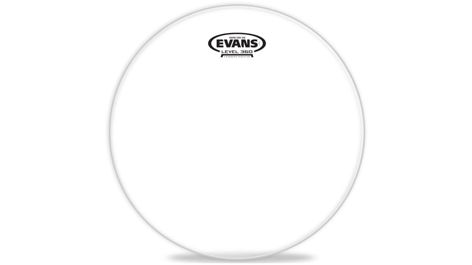 "Evans Hazy 200 Snare Reso Fell clear 13"""