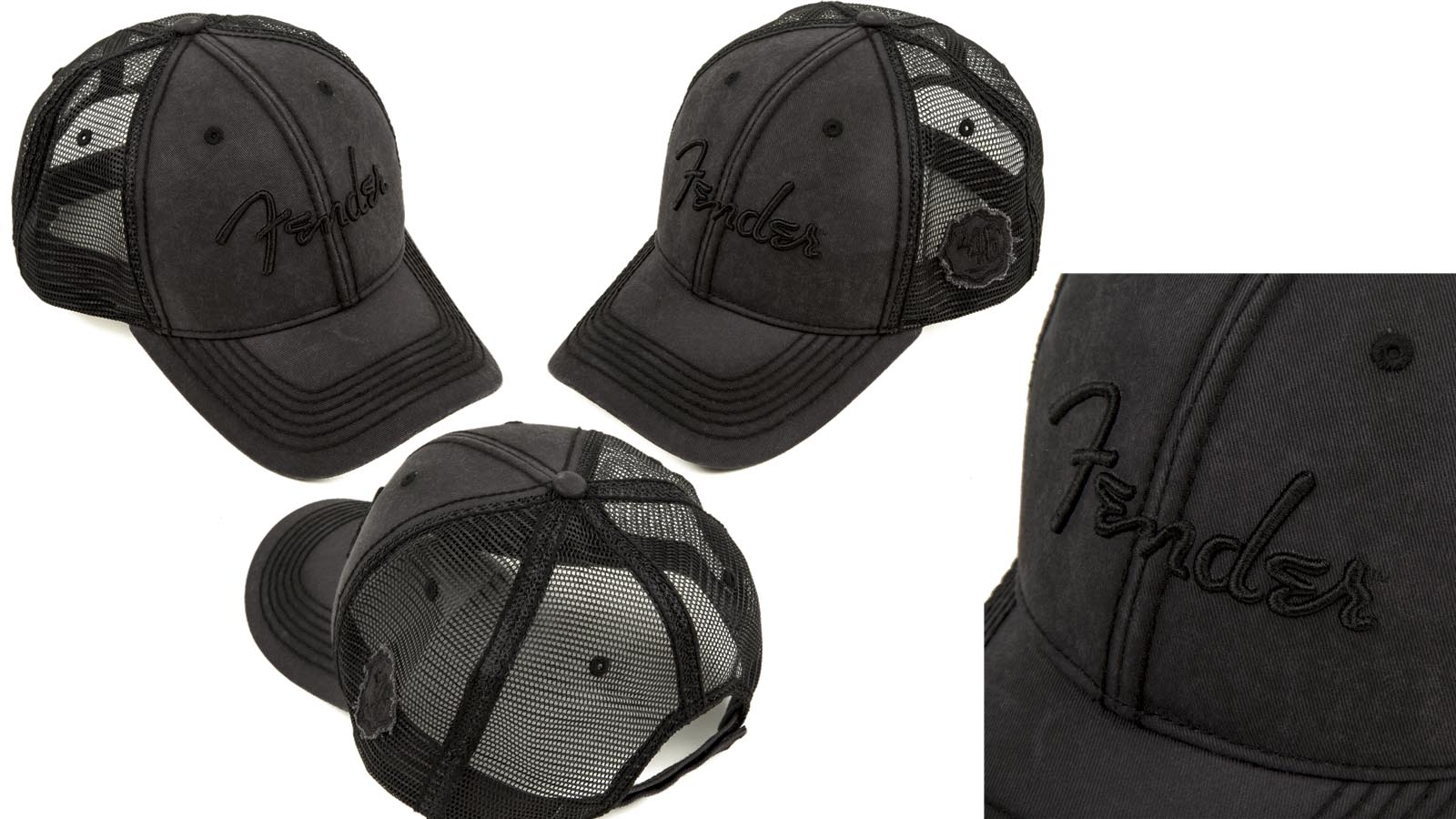 Fender Blackout Trucker Hat One Size Fits Most