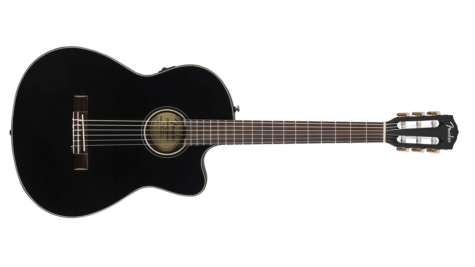 Fender CN-140SCE BLK Konzertgitarre