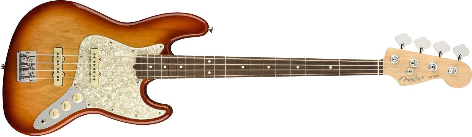 Fender LTD AM PRO J-Bass Ash RW SSB