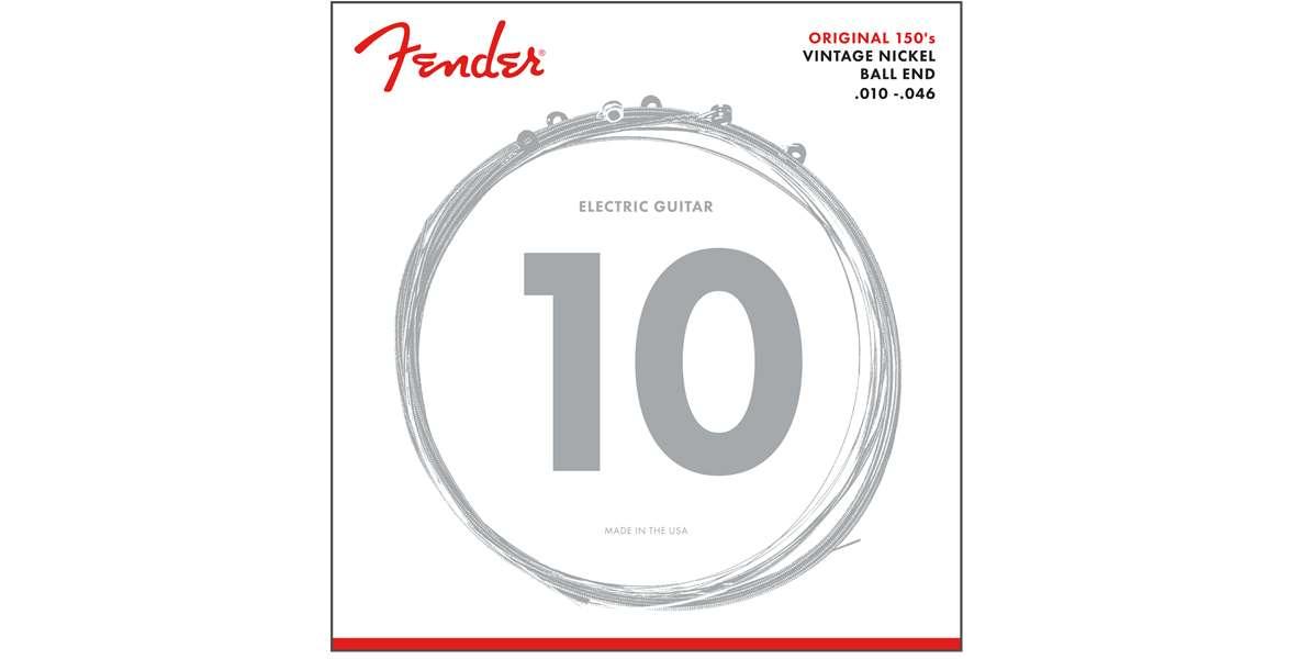 Fender 150R Nickel Ball End Saiten E-Gitarre 10-46