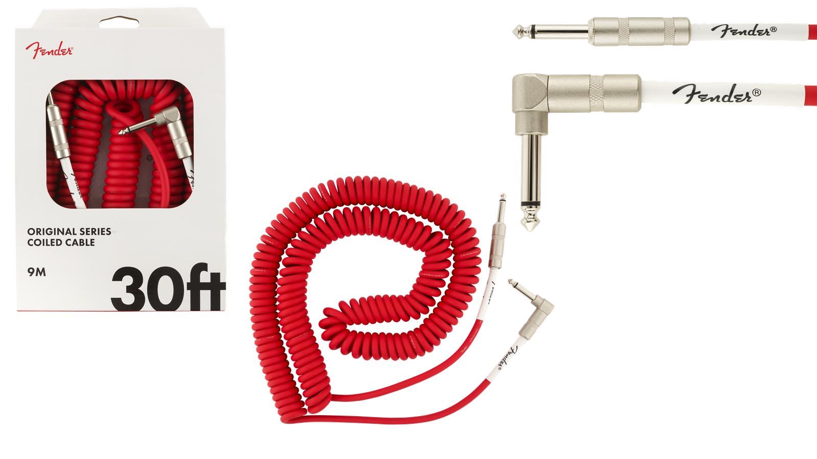 Fender Original Spiral Kabel 9m FR Fiesta Red