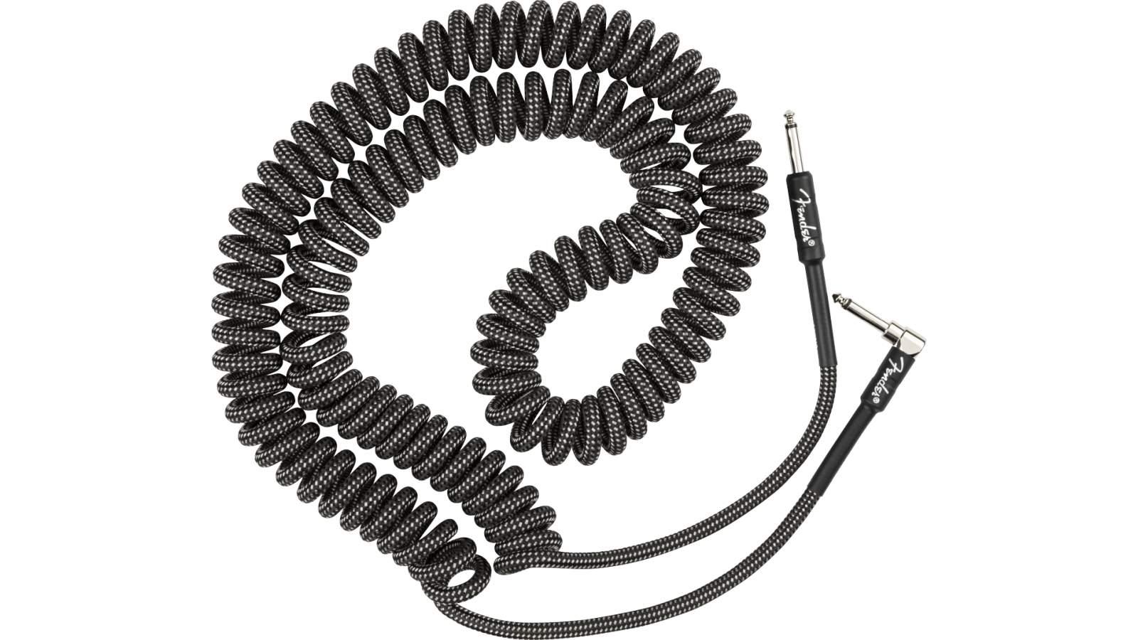 Fender Original Spiral Kabel 9m Tweed Gray
