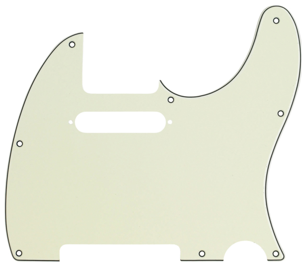 Fender Telecaster Pickguard 3 Ply Mint Green