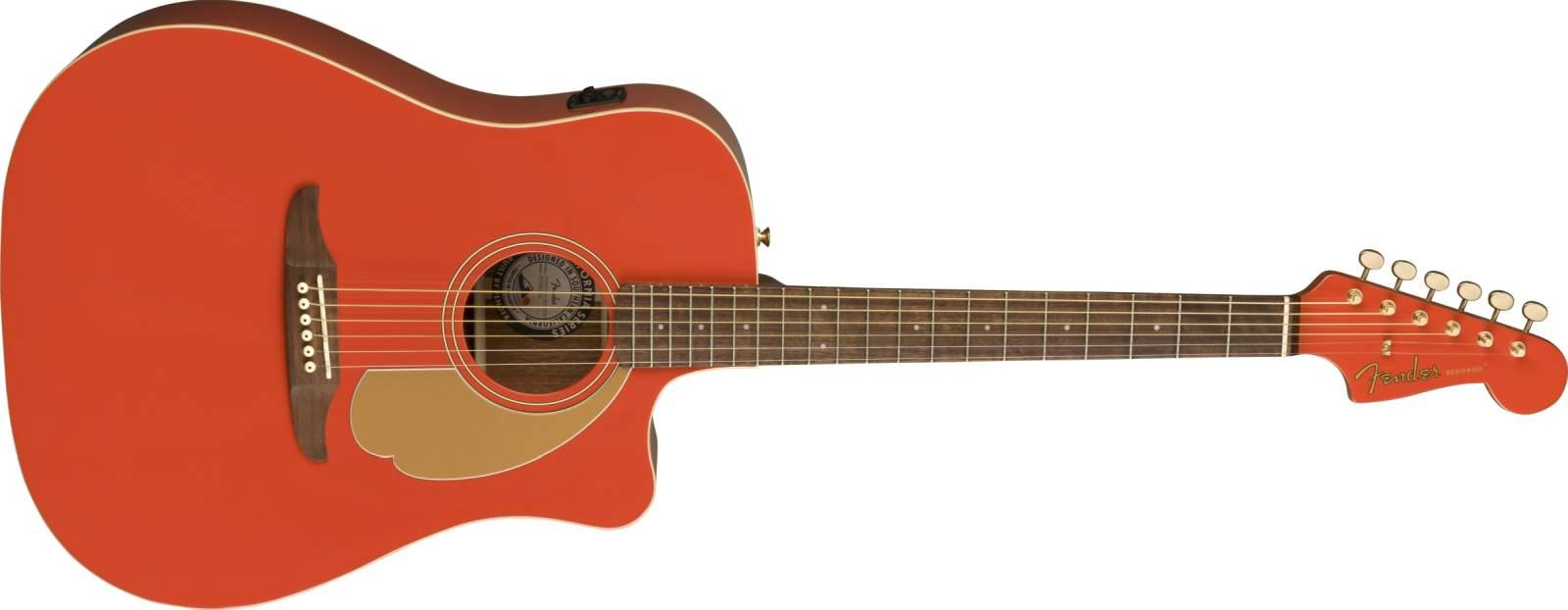 Fender Redondo Player Fiesta Red - LIMITED