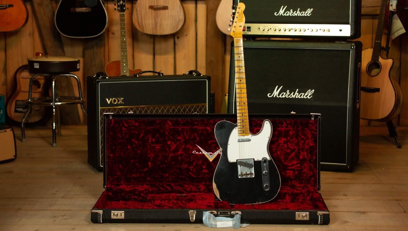 Fender 1965 Tele Custom Shop MN BLK Relic Lacquer