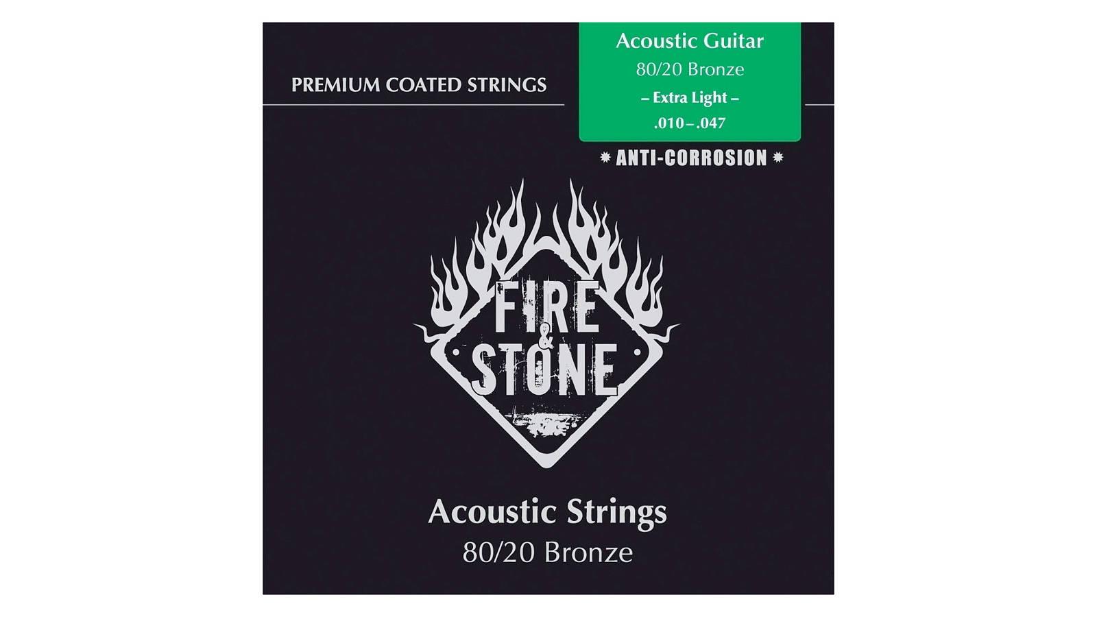 Fire&Stone Westerngitarrensaiten Extra Light 010-047