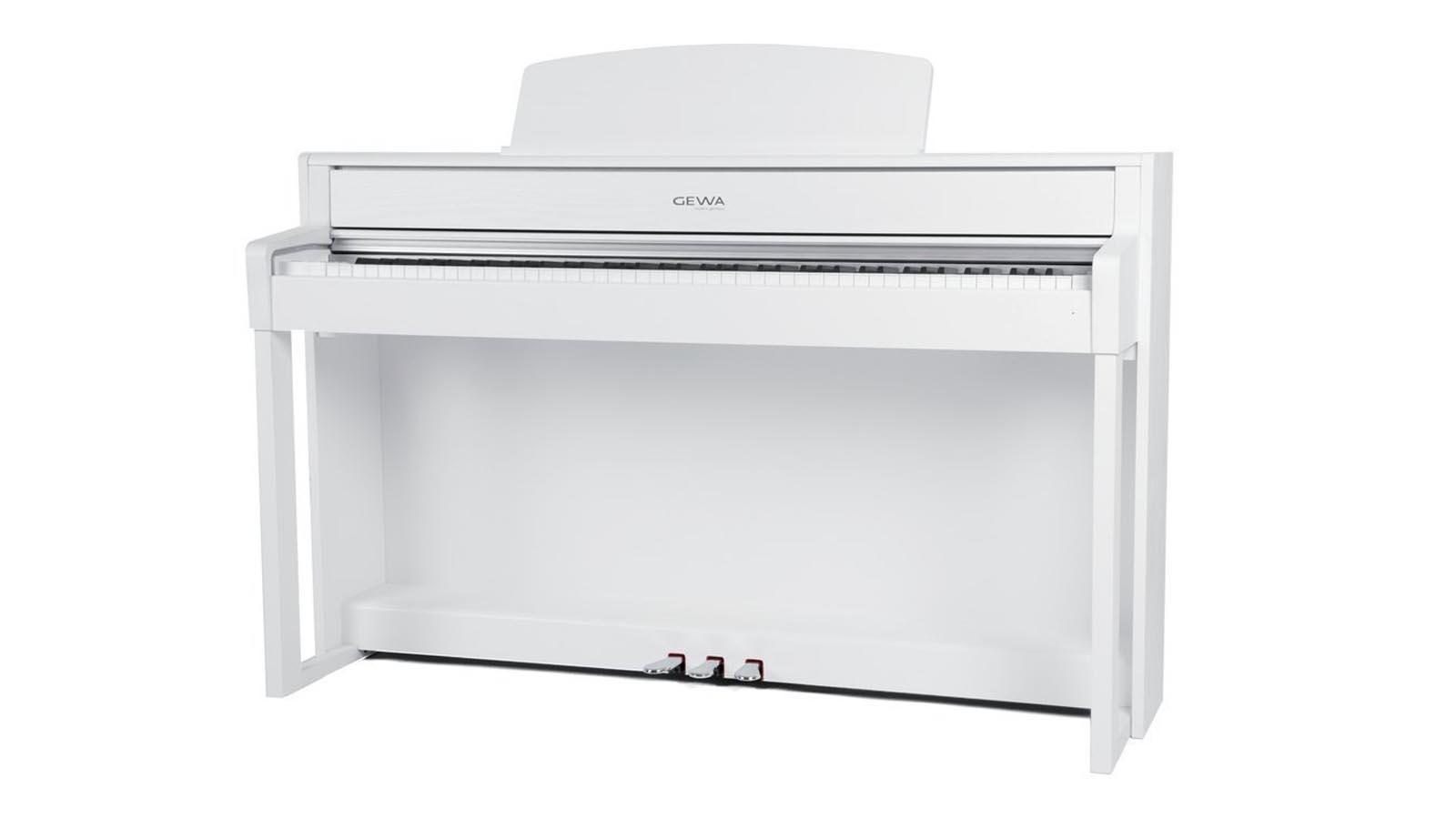 Gewa UP380WK WH E-Piano Weiß matt Holztasten