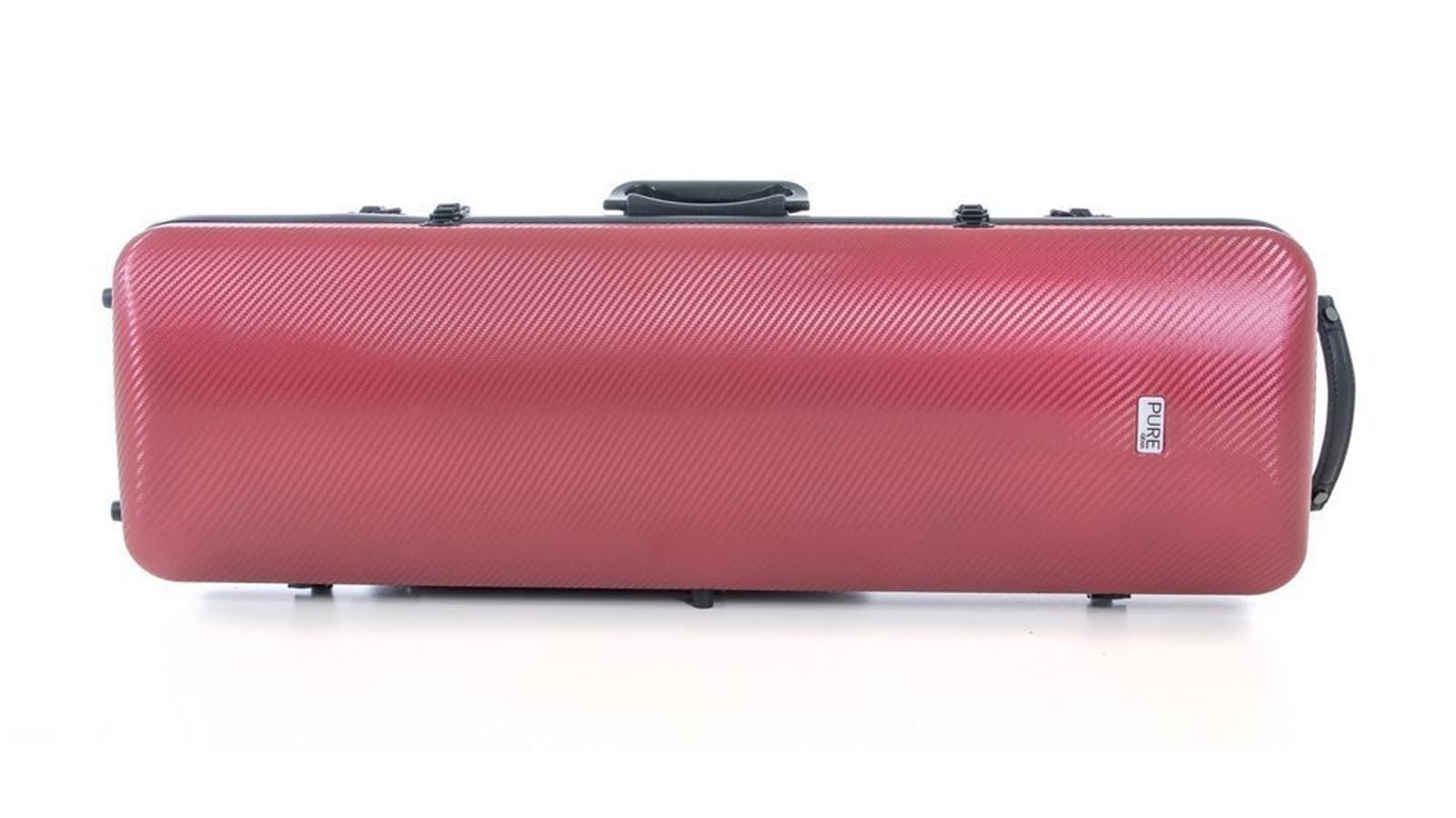 Gewa Violinkoffer Polycyrbonat Rot/Schwarz