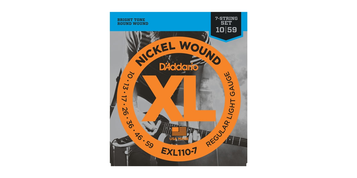 D'Addario EXL-110-7 Nickel Regular Light E-Gitarre 010-059
