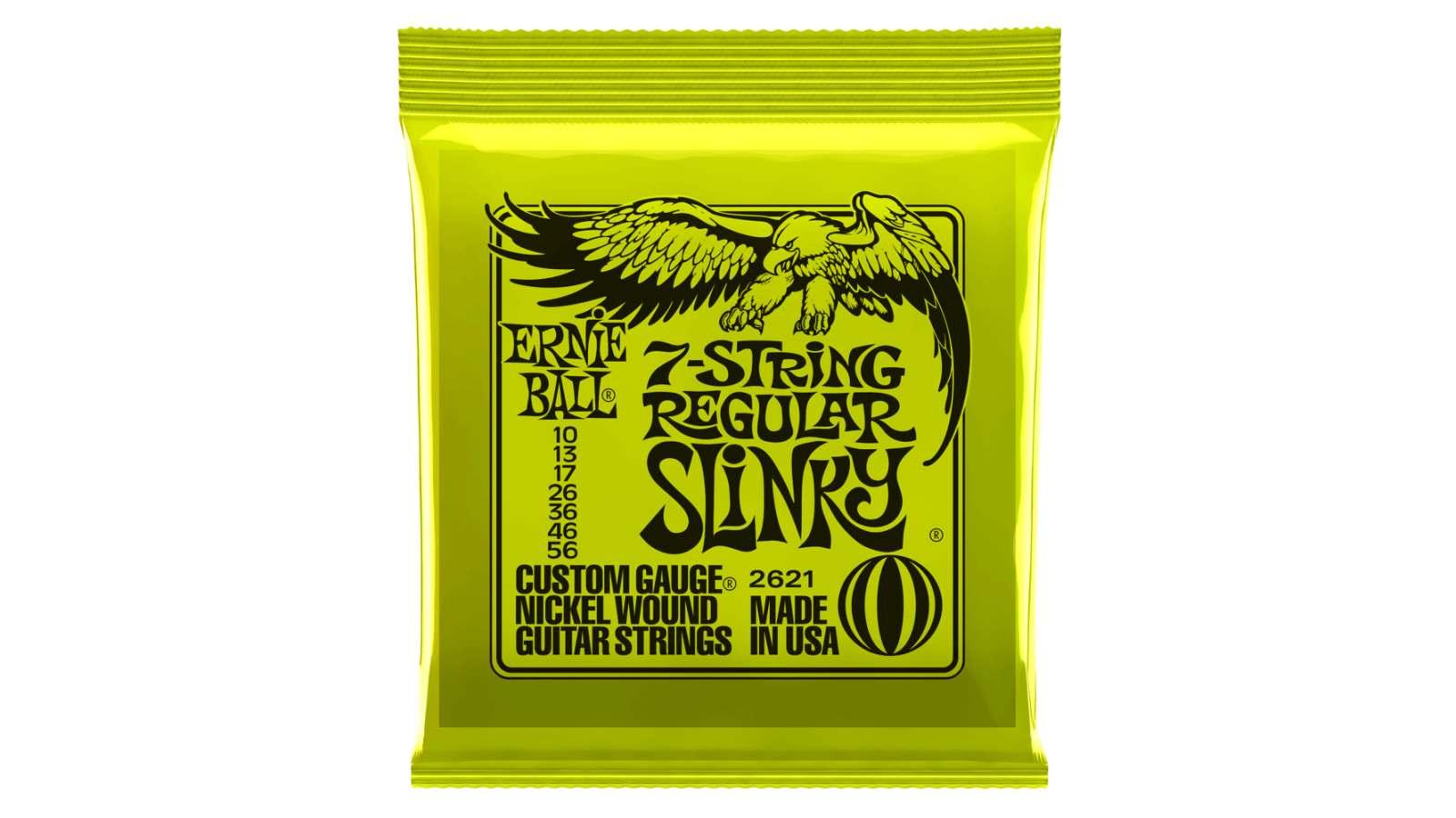 Ernie Ball EB-2621 Regular Slinky 7-String Saiten 010-056
