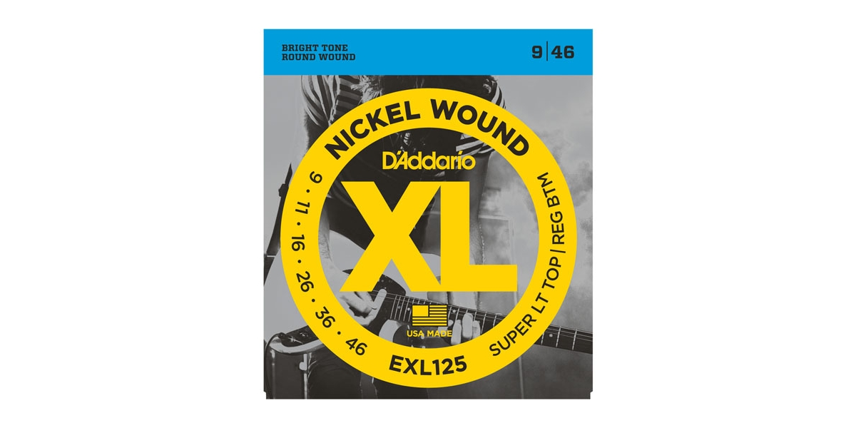D'Addario EXL-125 Nickel Super Light E-Gitarren 009-046