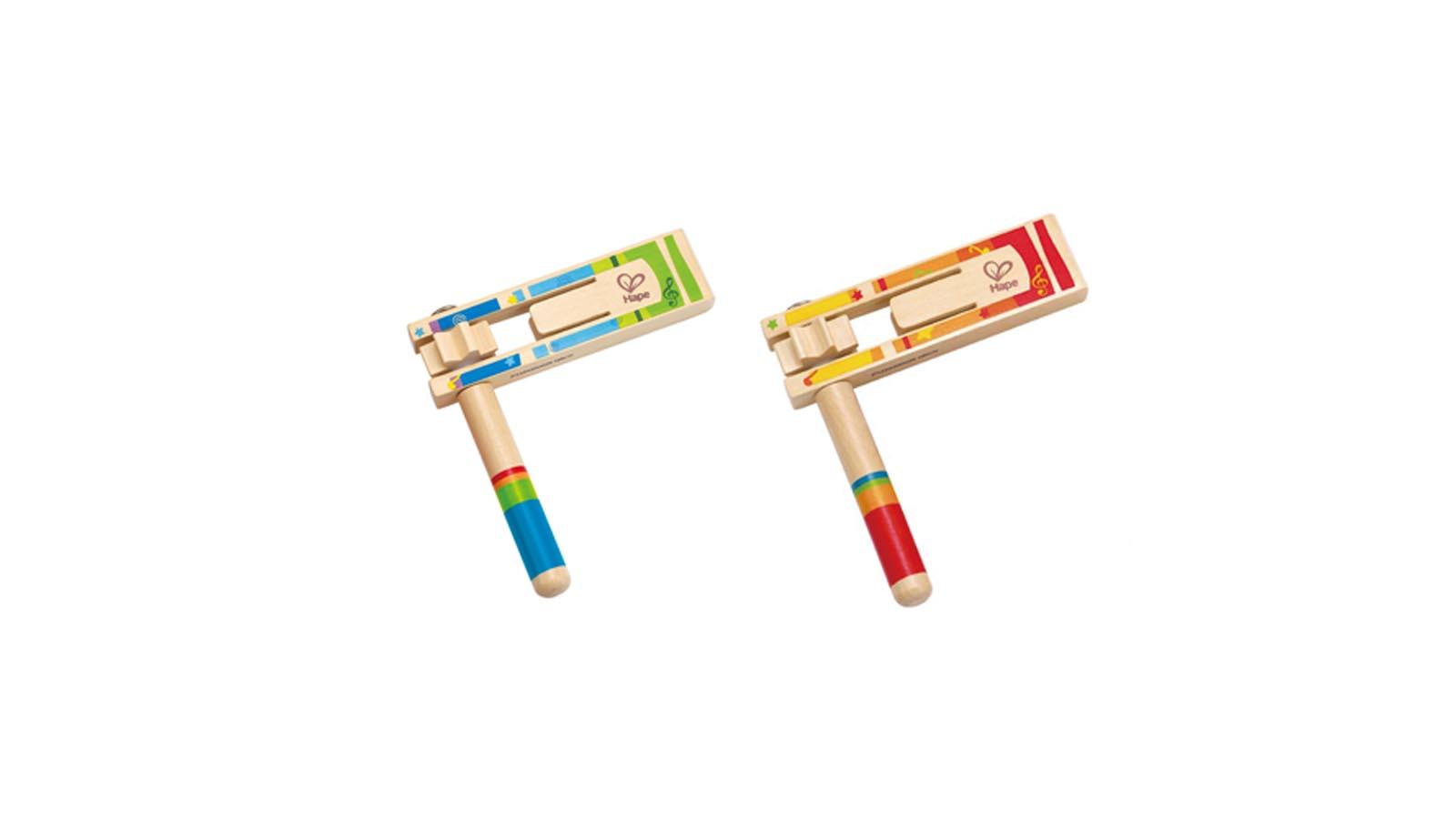 Hape Spielzeug Lustige Holzratsche