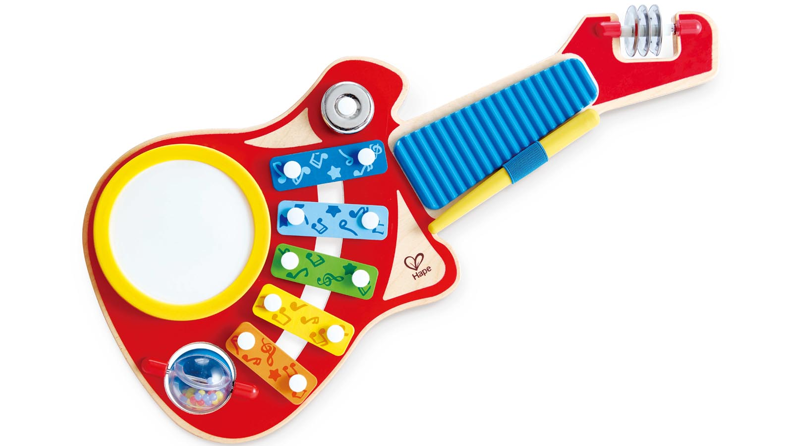 Hape Spielzeug 6-in-1 Musikinstrument Gitarre