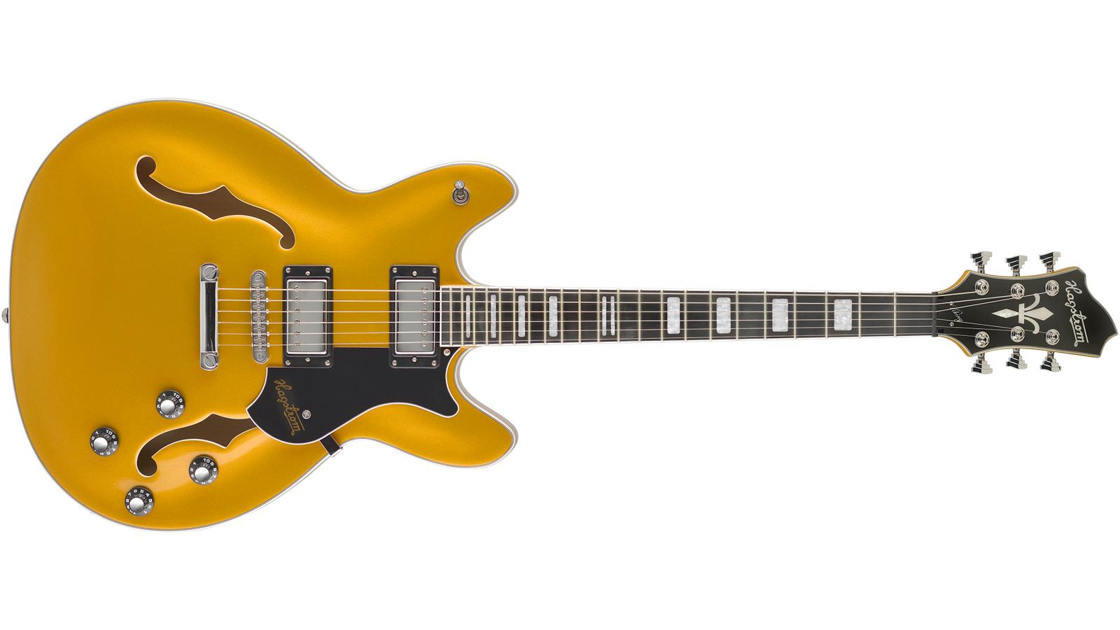 Hagstrom HSVIK90 Viking E-Gitarre Gold Metallic