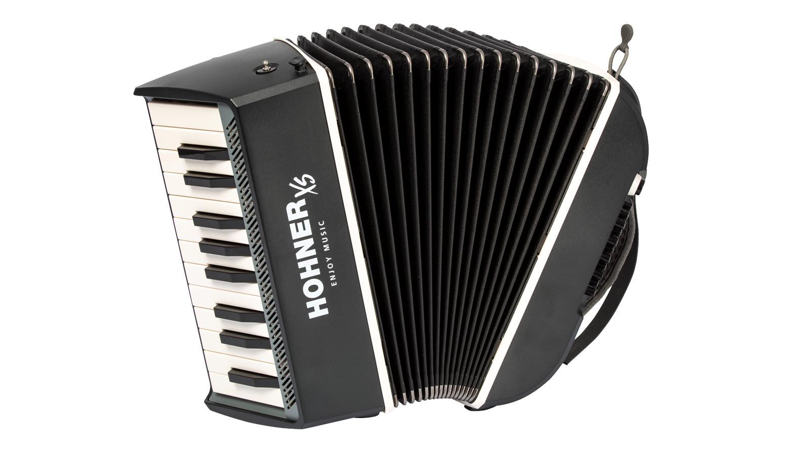 Hohner Akkordeon XS Weiß- Grau