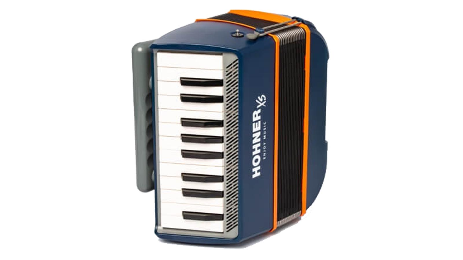 Hohner XS Kinder Akkordeon blau / orange