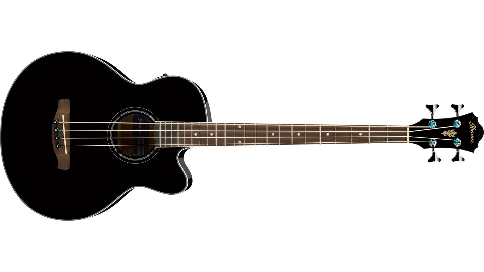 Ibanez AEB-8 E-BK Akustik Bass schwarz hochglanz