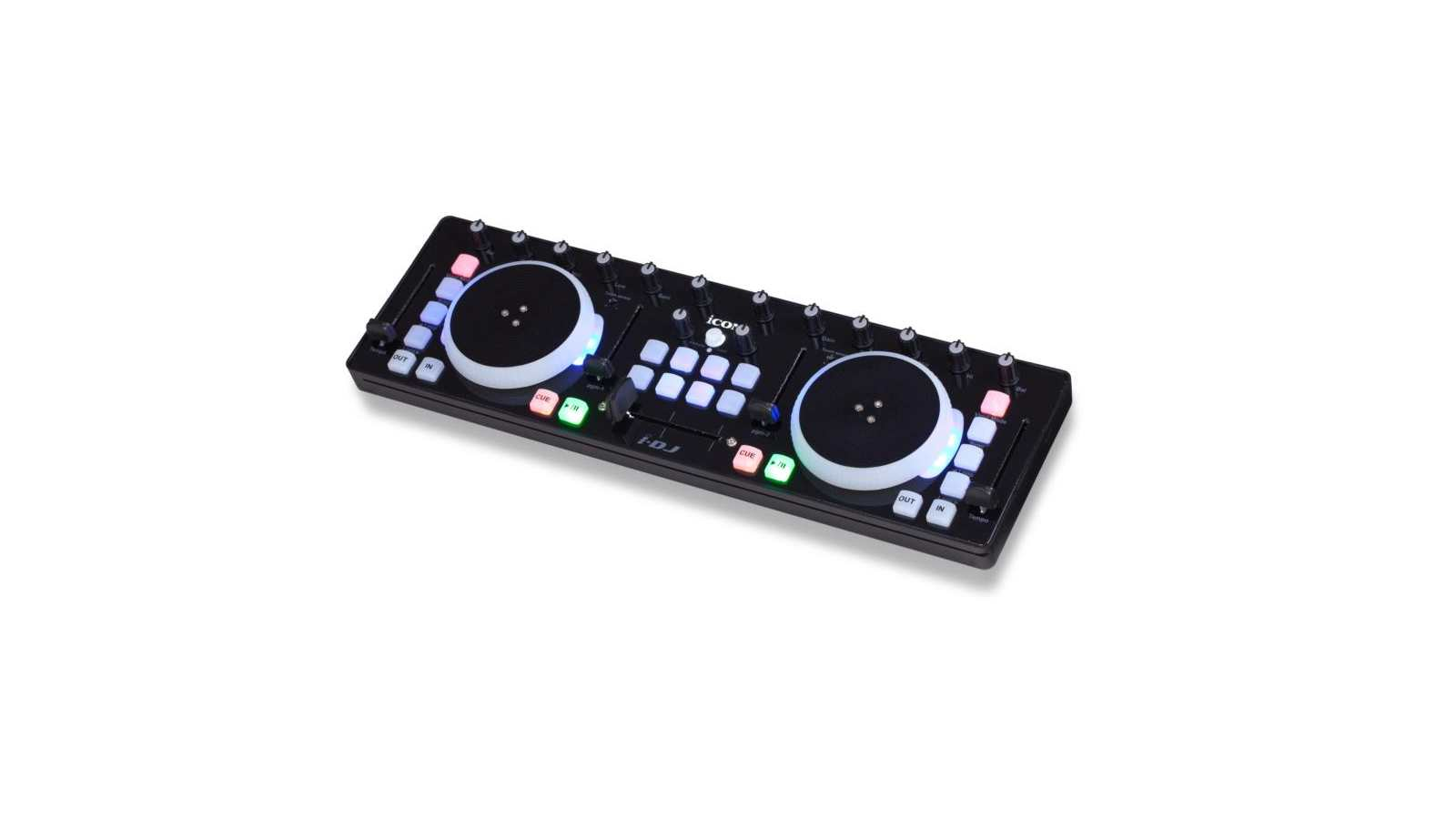 ICON i-DJ Mini USB MIDI-/DJ-Controller Black