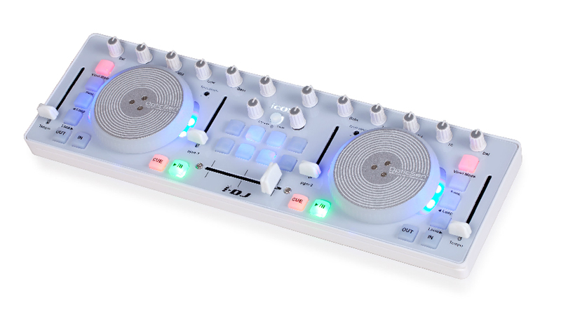 ICON i-DJ Mini USB MIDI-/DJ-Controller White