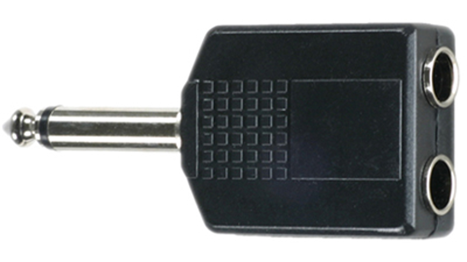 DREITEC 2 x Klinkenbuchse Mono auf 1 x 6,3 mm Klinke Mono Adapter 1852