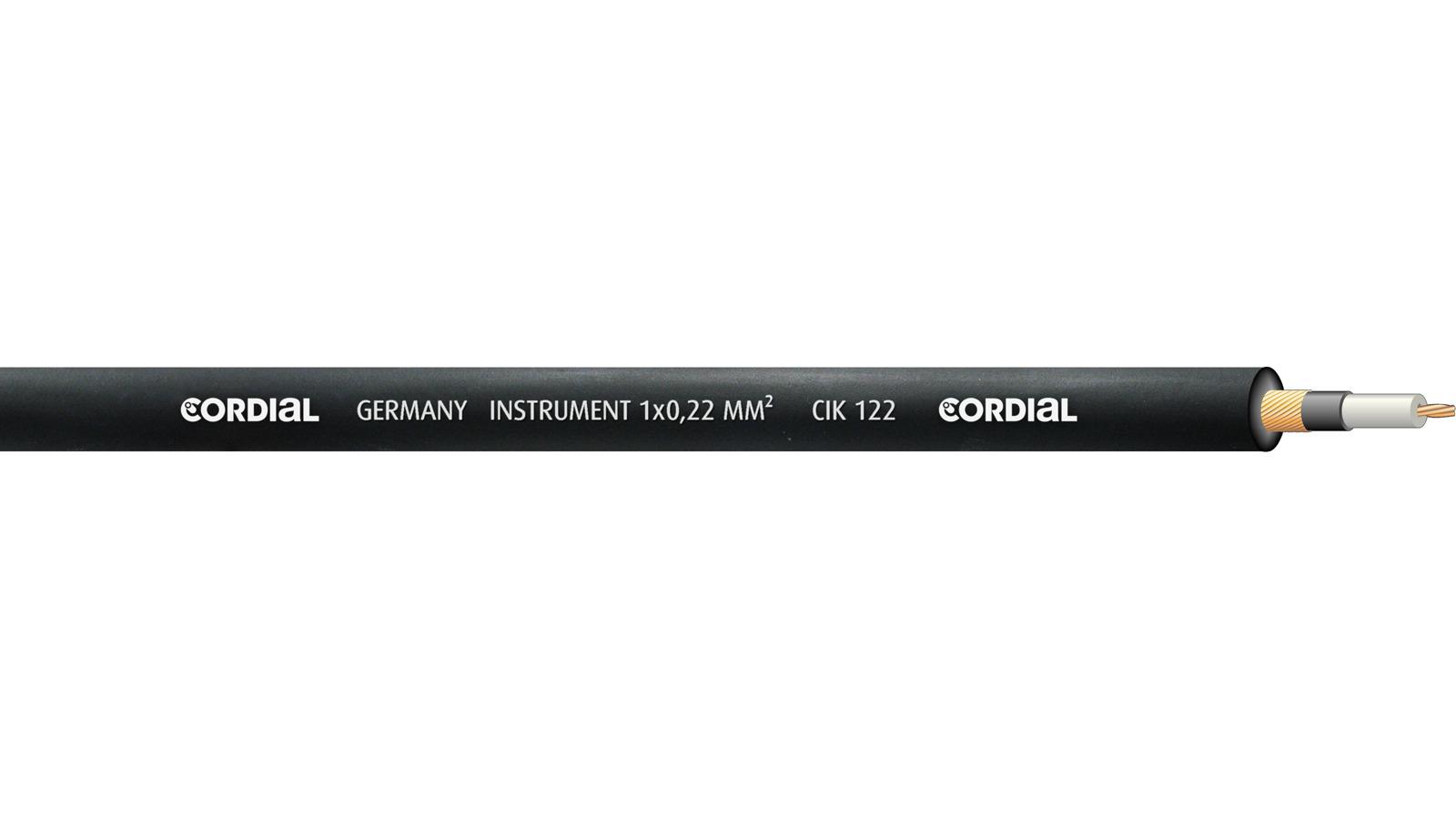 Cordial CIK 122 BLACK 100 Rolle Meterware