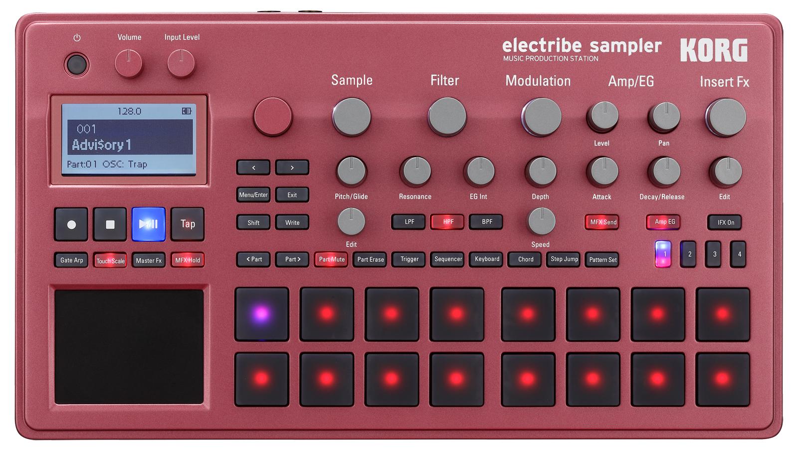 Korg Electribe 2 Synthesizer Red