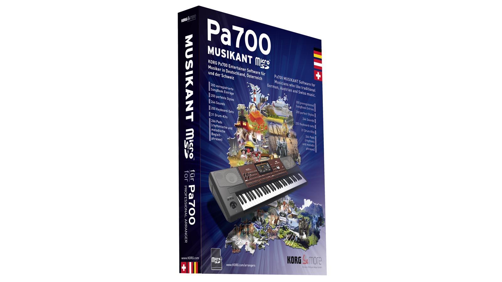 Korg Erweiterung für PA-700 SD-Karte Software