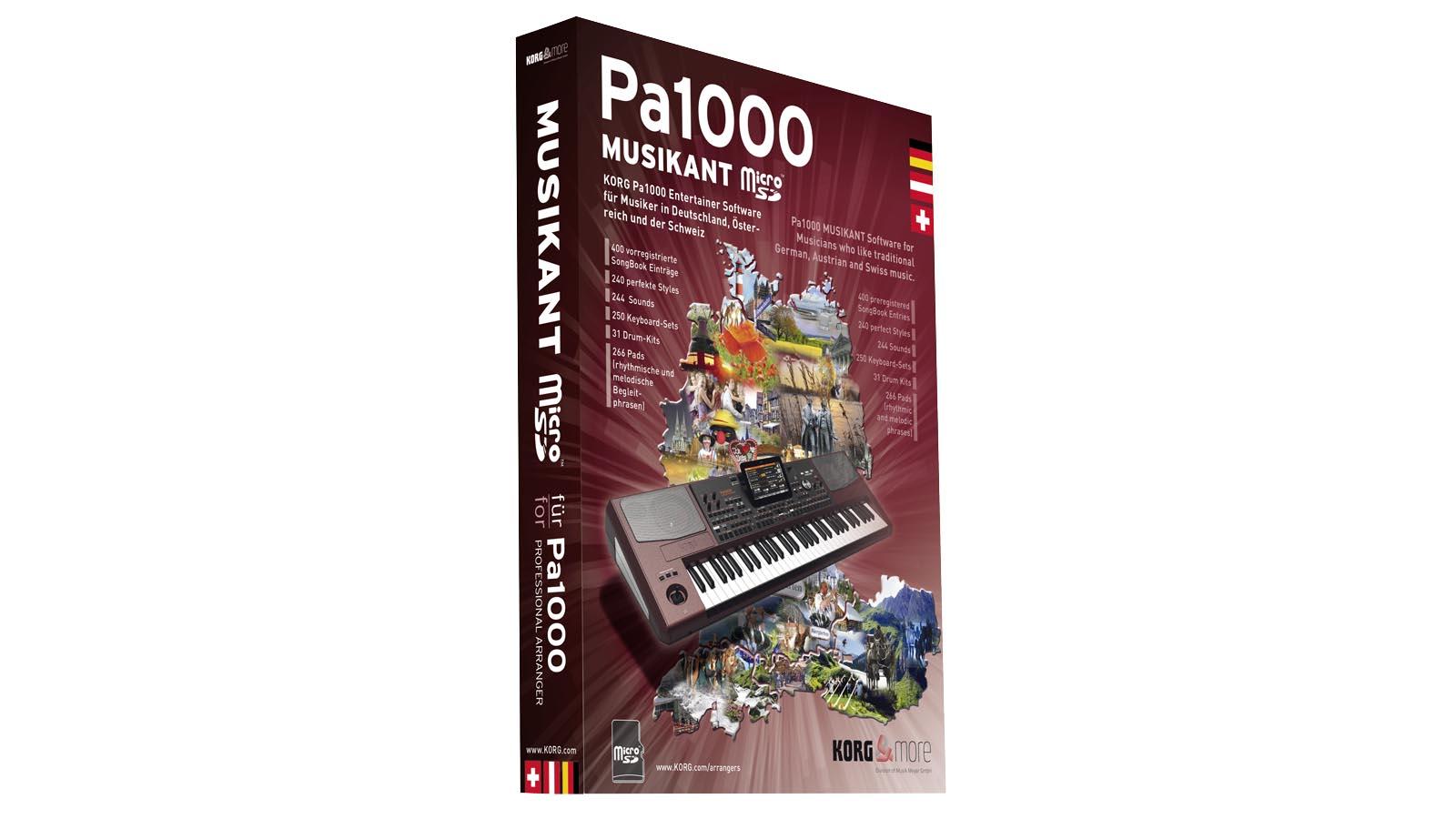 Korg Erweiterung für Pa-1000 SD-Karte Software
