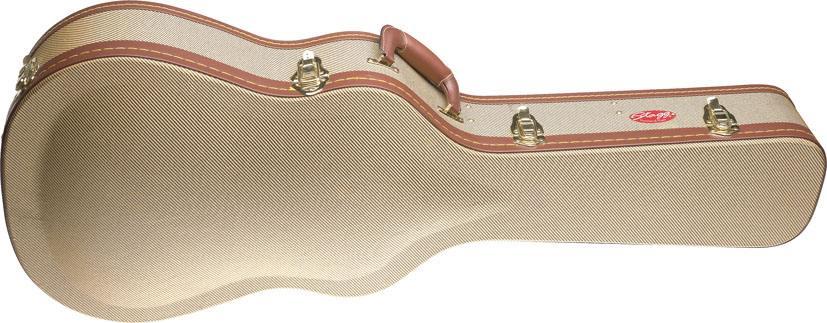 Stagg Konzert Gitarren Koffer tweed