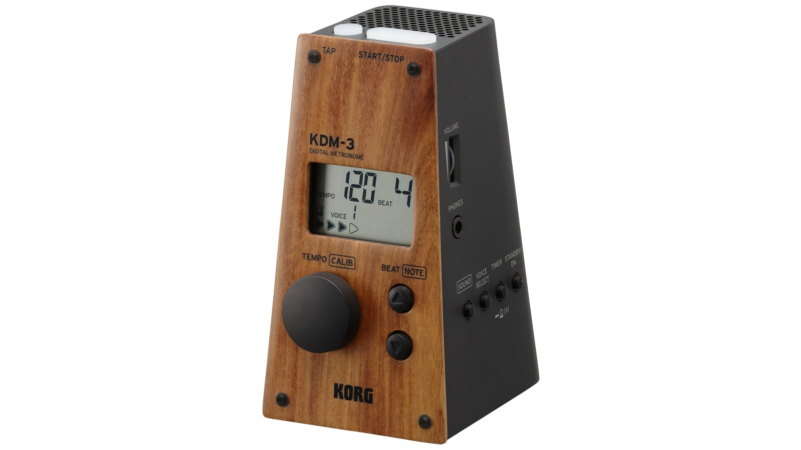 Korg Metronom digital KDM-3 WBK schwarz Holzeffekt