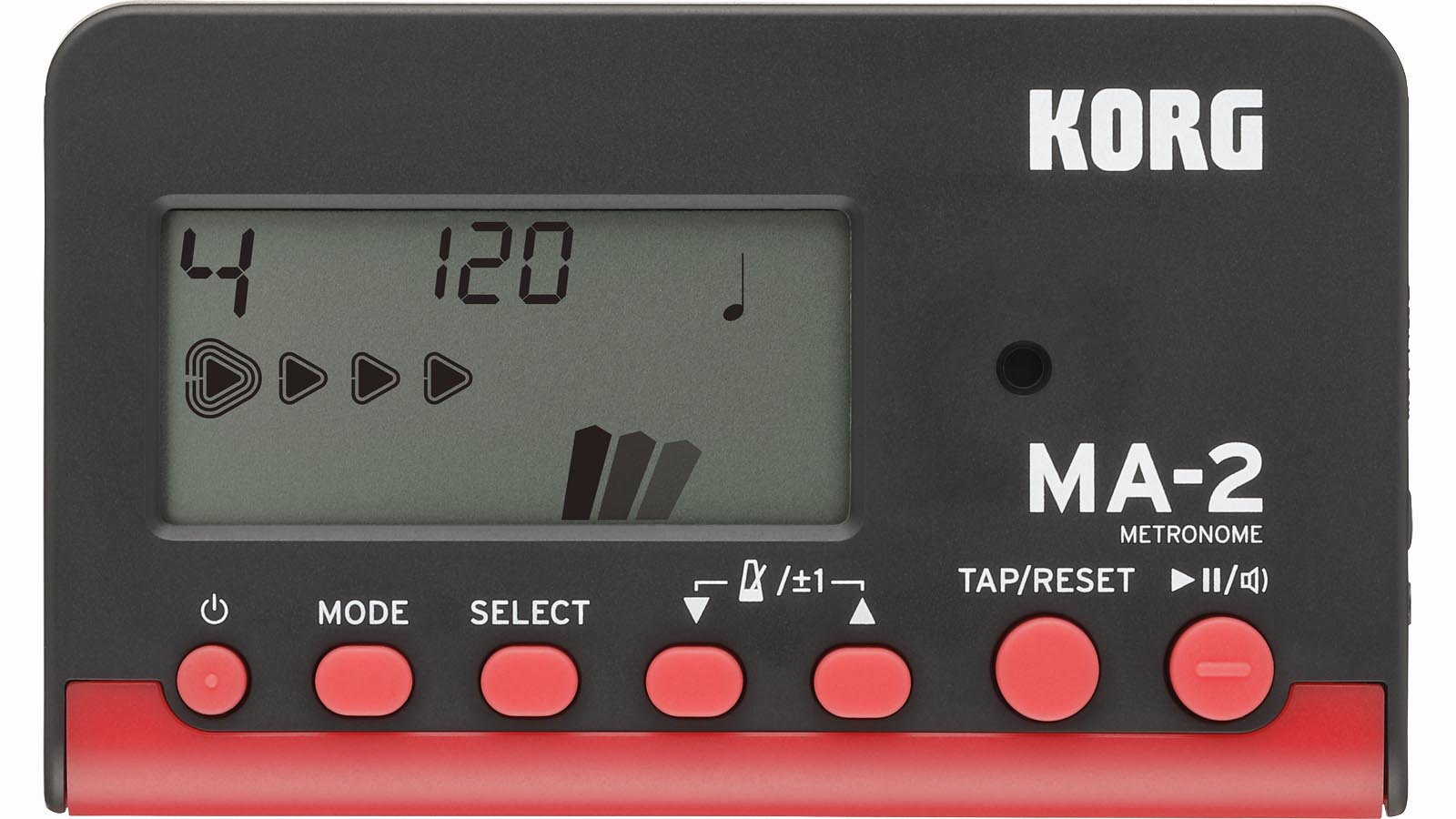 Korg Metronom MA-2 digital schwarz/rot