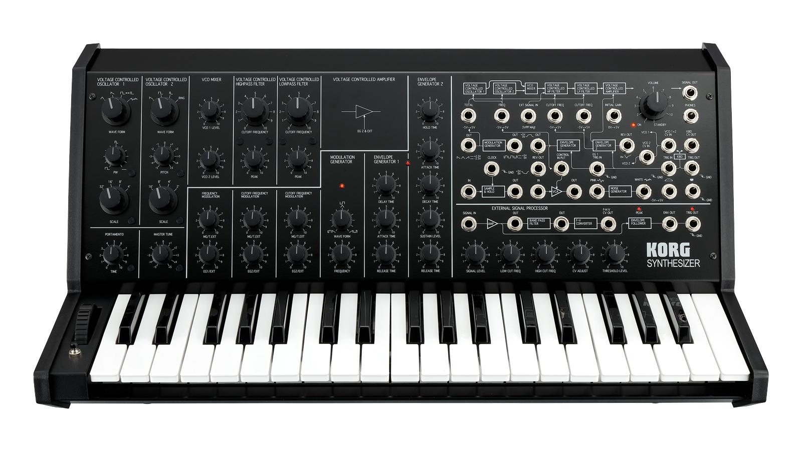 Korg MS-20 analog schwarz Ltd. 37 Tasten