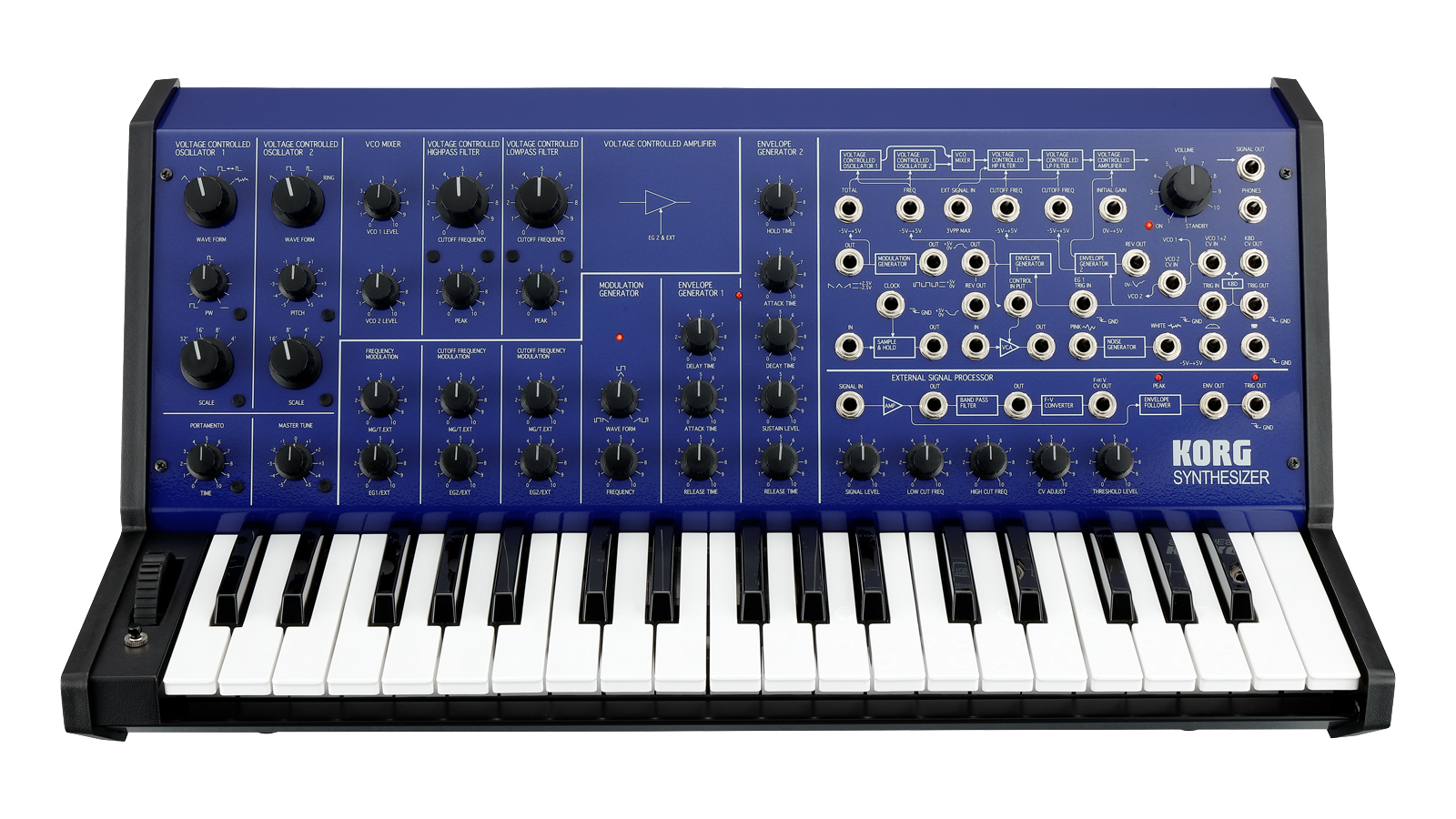 Korg MS-20 analog blau Ltd. 37 Tasten