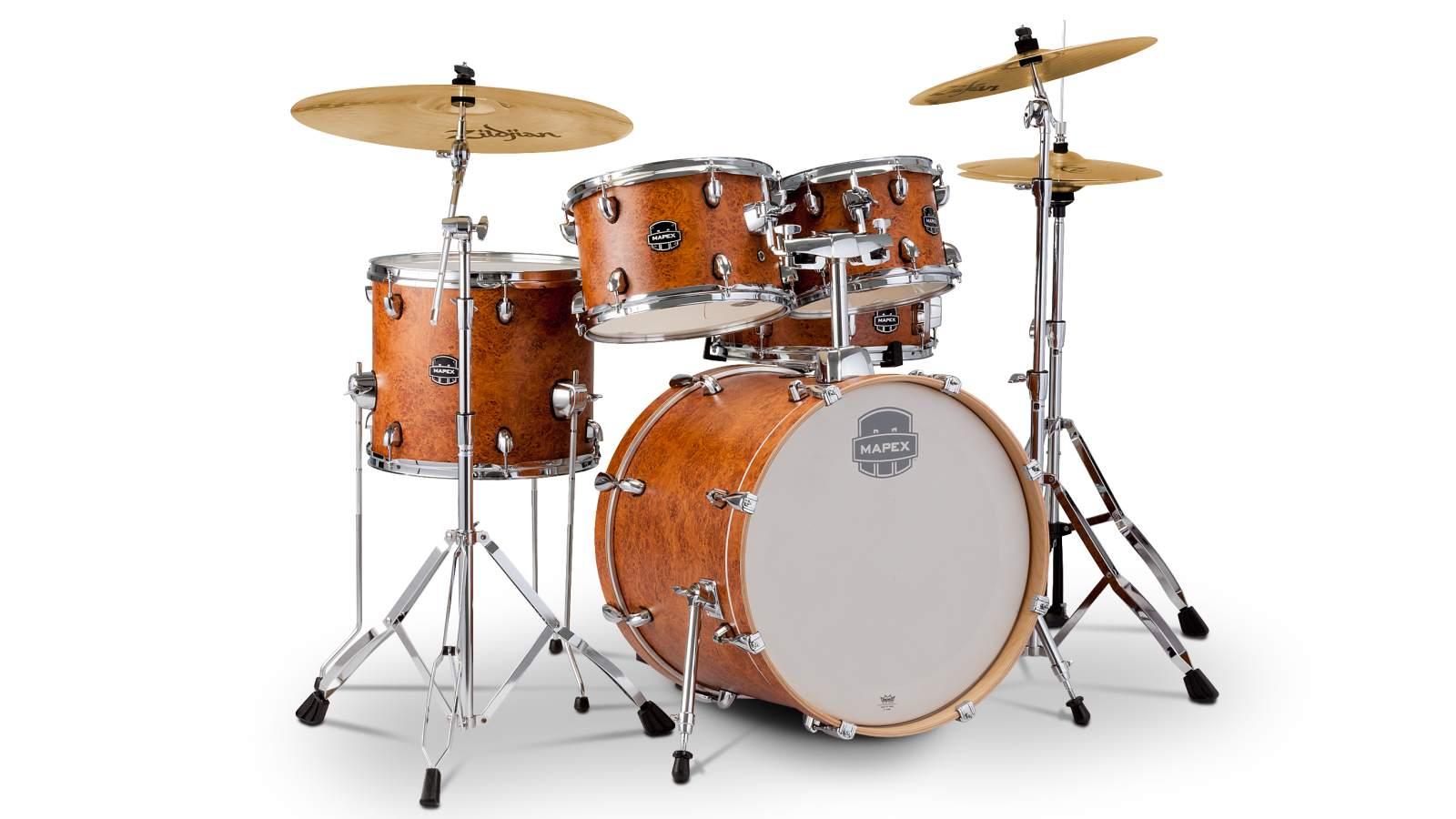 Mapex Storm Drumset 20 - Camphor Wood Grain inkl HW und Becken