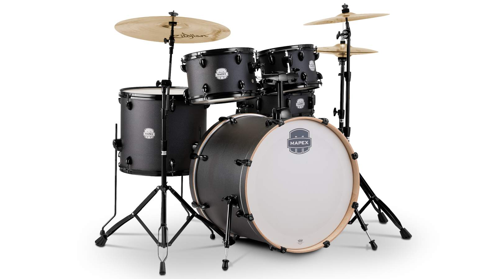 Mapex Storm Drumset 22 - Deep Black inkl HW und Becken