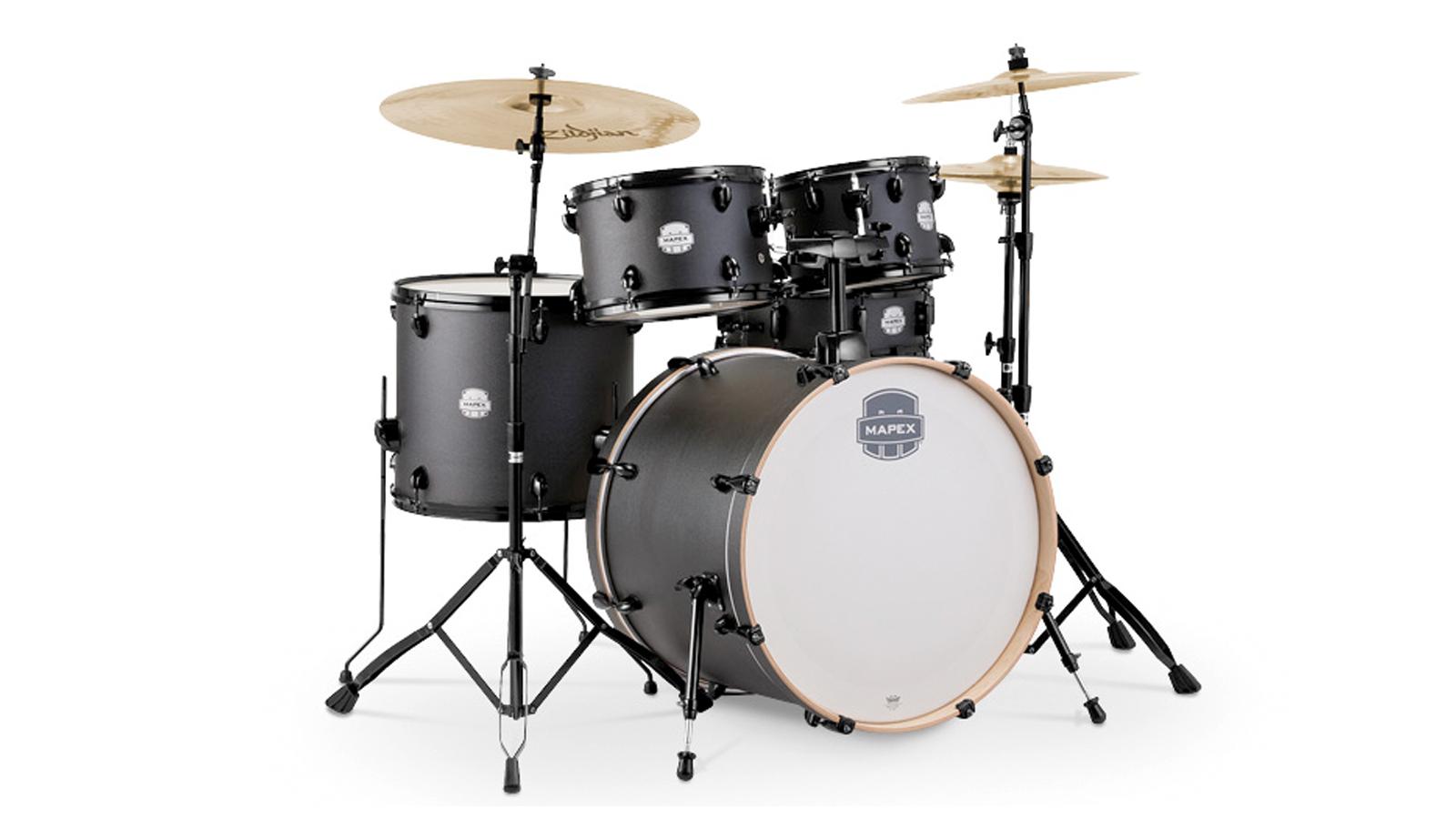 Mapex Storm Drumset 22 10 12 14 Deep Black inkl. HW und Becken