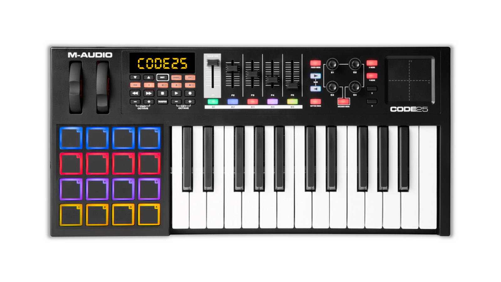M-Audio Code 25 Black USB MIDI Controller mit X/Y Pad
