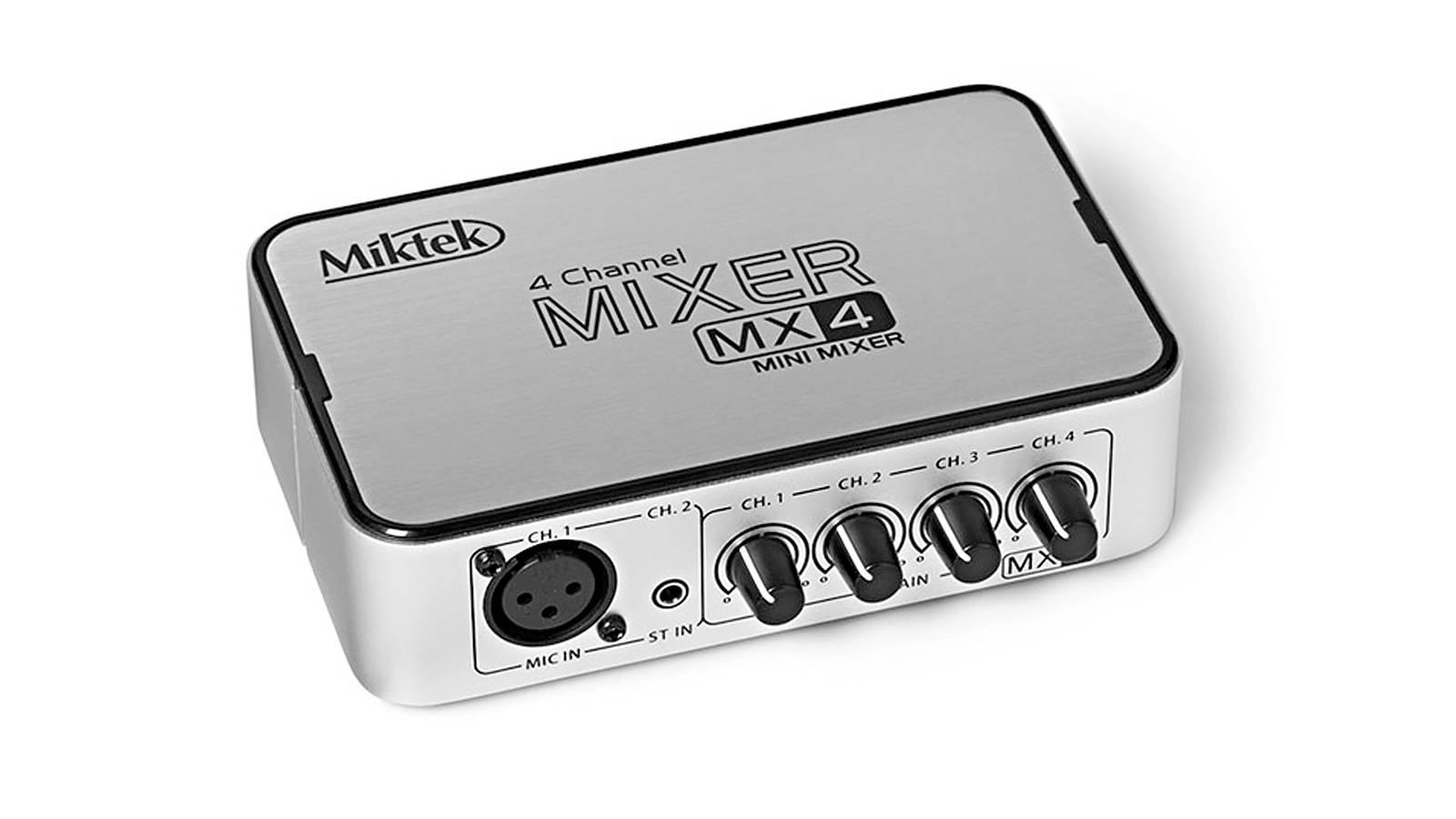Miktek Mx4 4 Kanal Mini Stereo Mixer