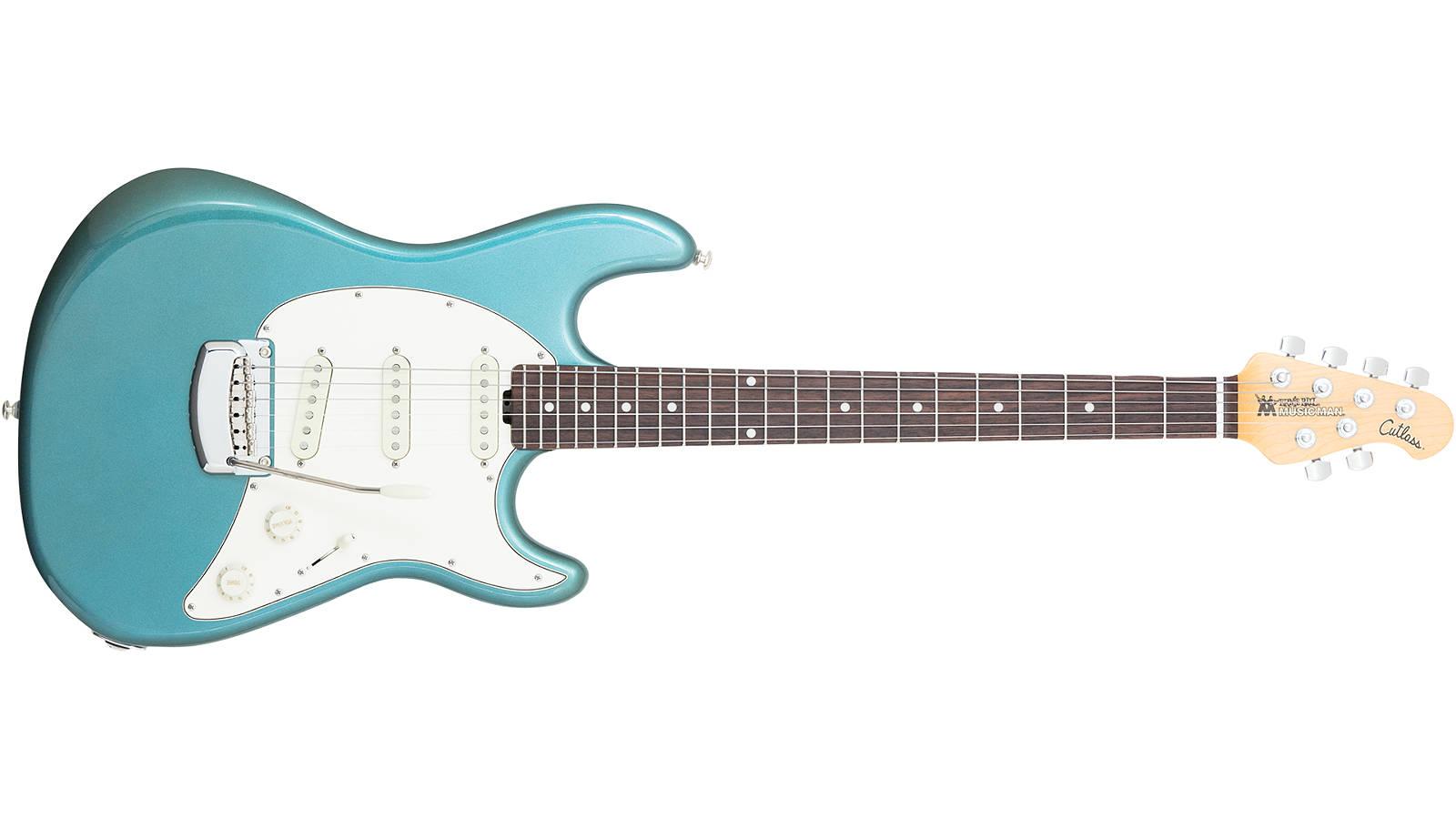 Music Man Cutlass Vintage Turqoise E-Gitarre