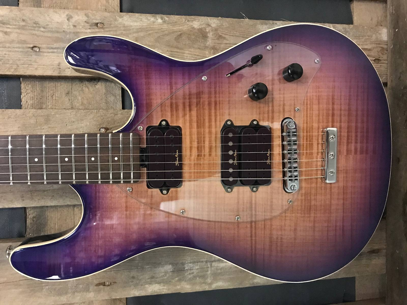 Music Man Steve Morse Y2D HSH PSF Purple Sunset Flame
