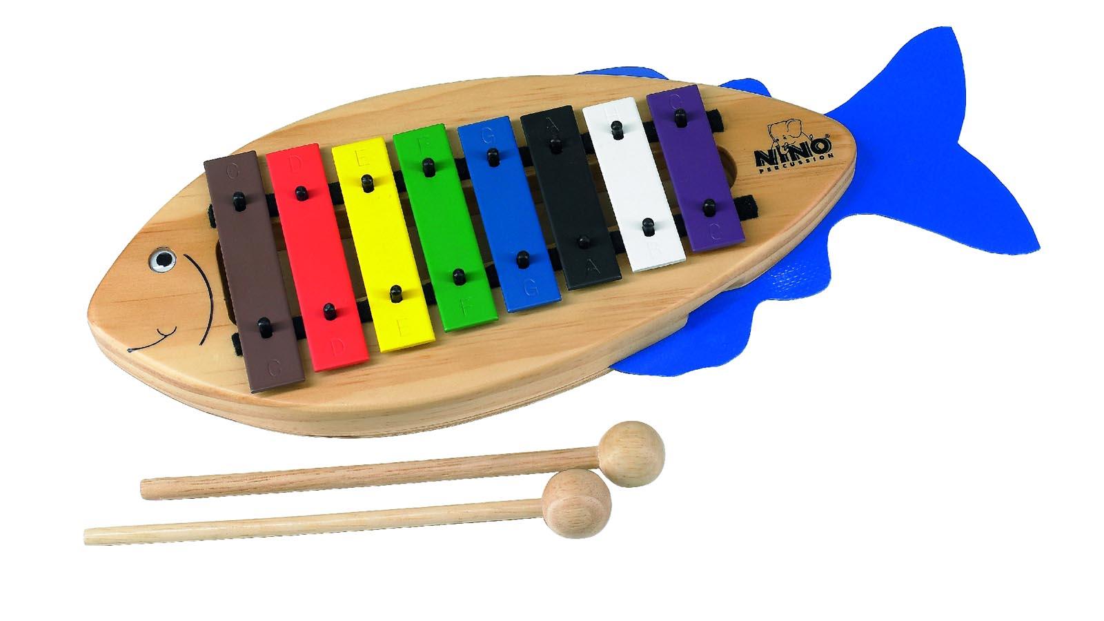 Nino Glockenspiel Fisch inkl. Schlägel und Liederbuch