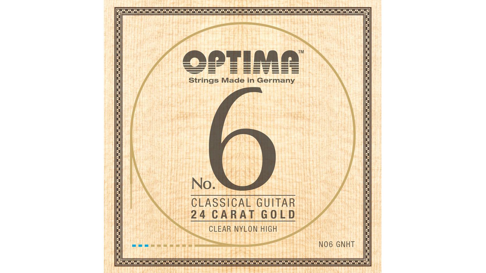 Optima No.6 Nylon 24 Karat Gold Konzertgitarrensaiten