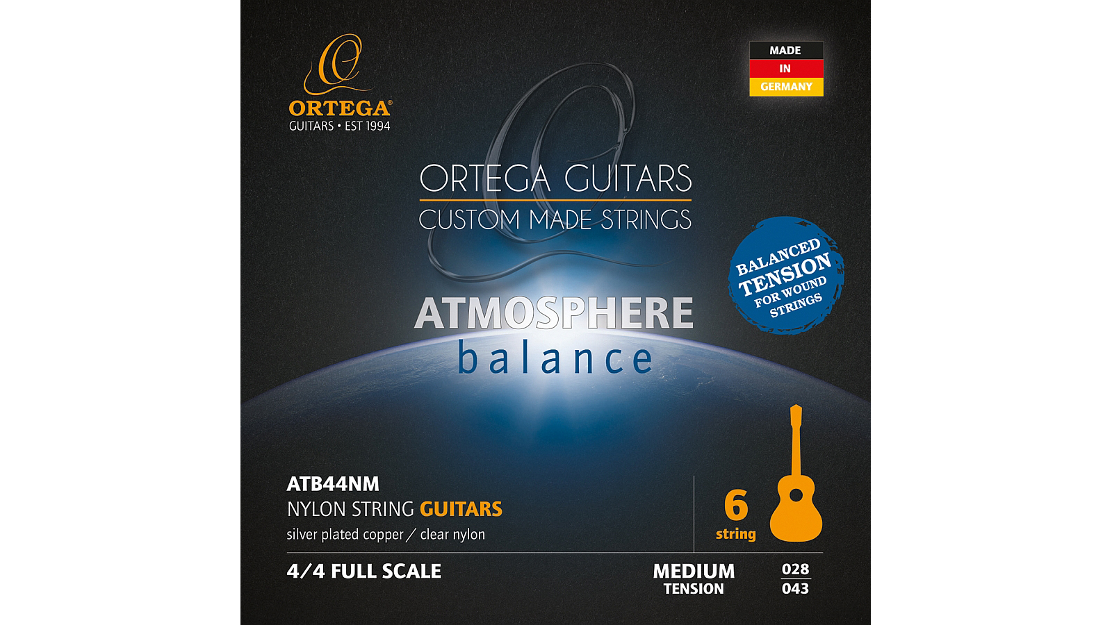 Ortega ATB44NM Nylon Saiten Medium